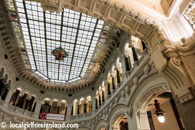 Palacio De Cibeles Madrid Local Girl Foreign Land