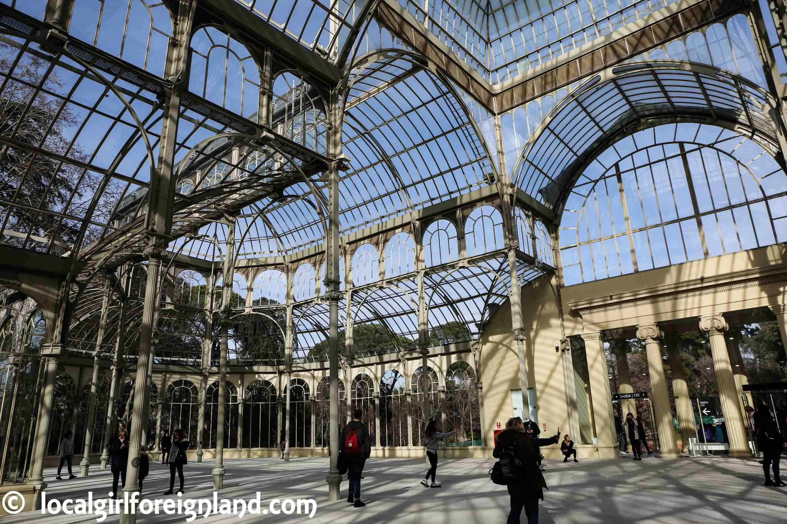 Inside The Glass Palace (Palacio de Cristal), Madrid.