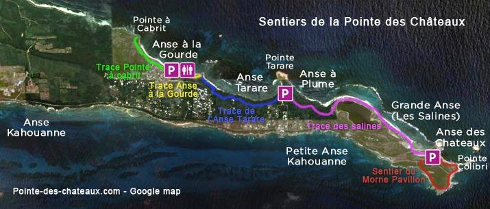 Sentiers de la Pointe des Chateaux