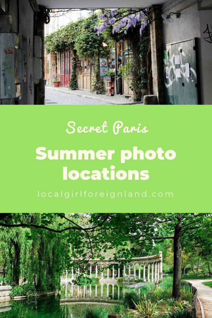 Hidden summer photo locations in Paris
