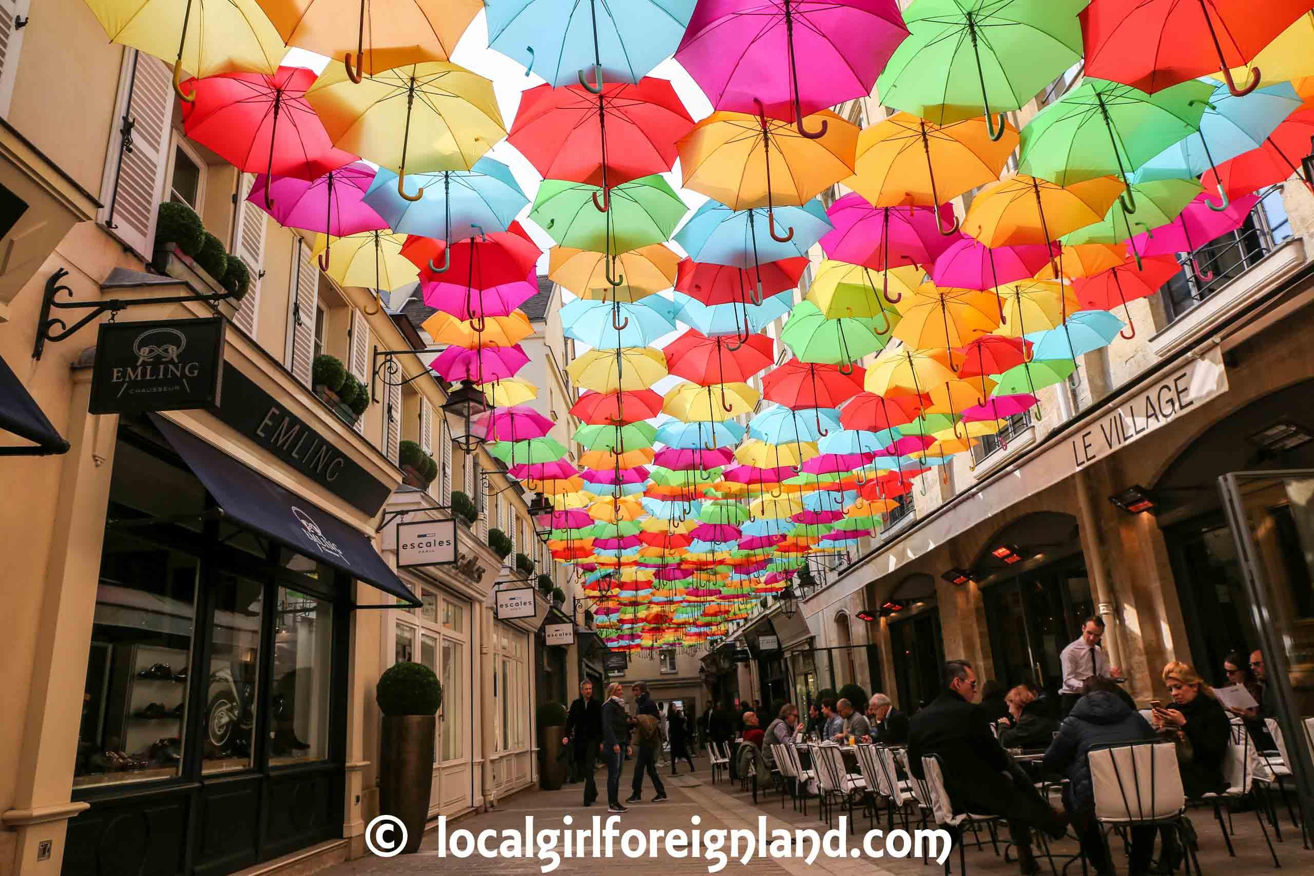 Le Village Royal, Paris Summer, Umbrella sky project