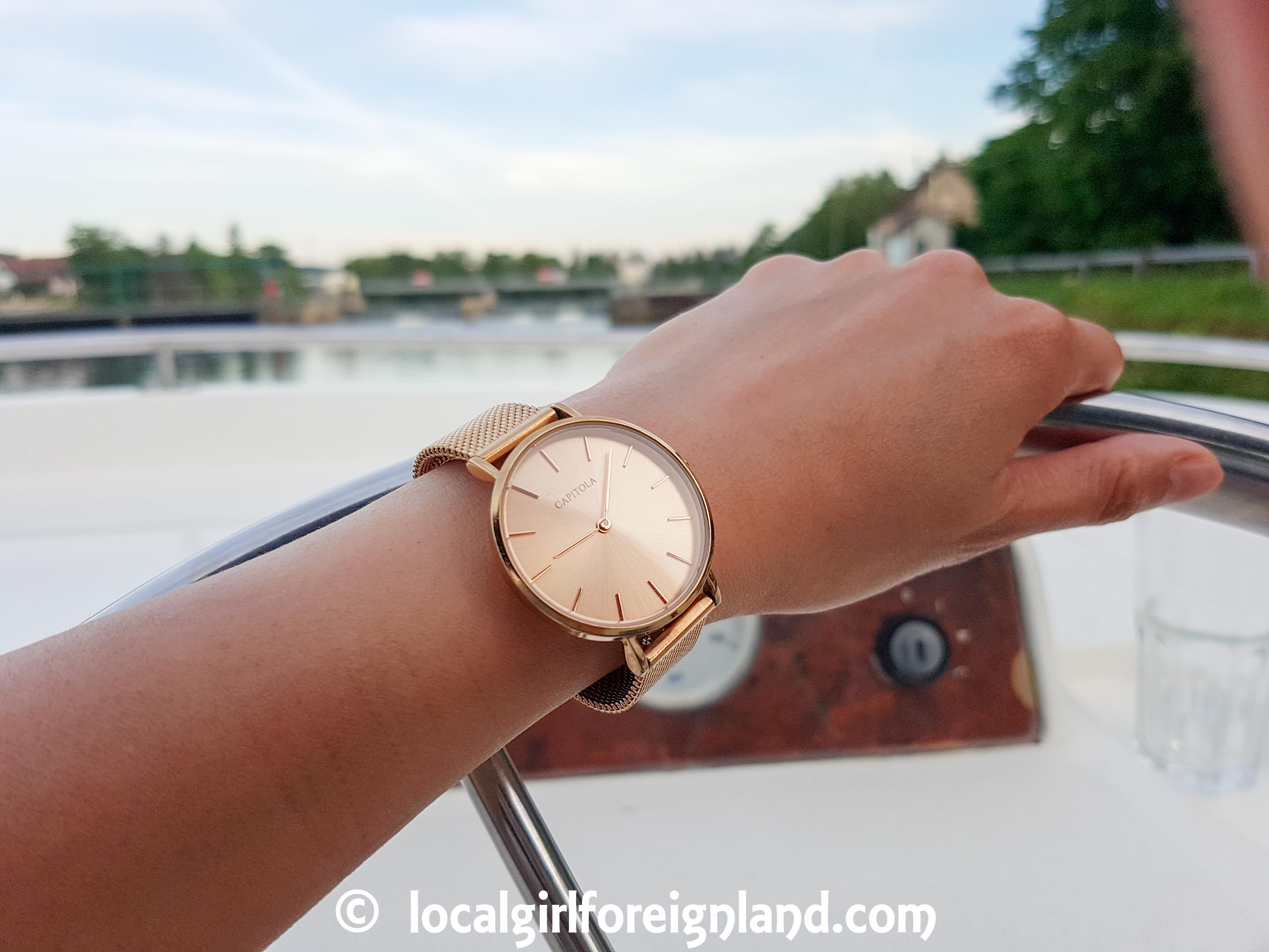 Capitola petit mesh rose gold sunray 32mm