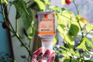 La Roche Posay anthelios anti-imperfections sunscreen empties review