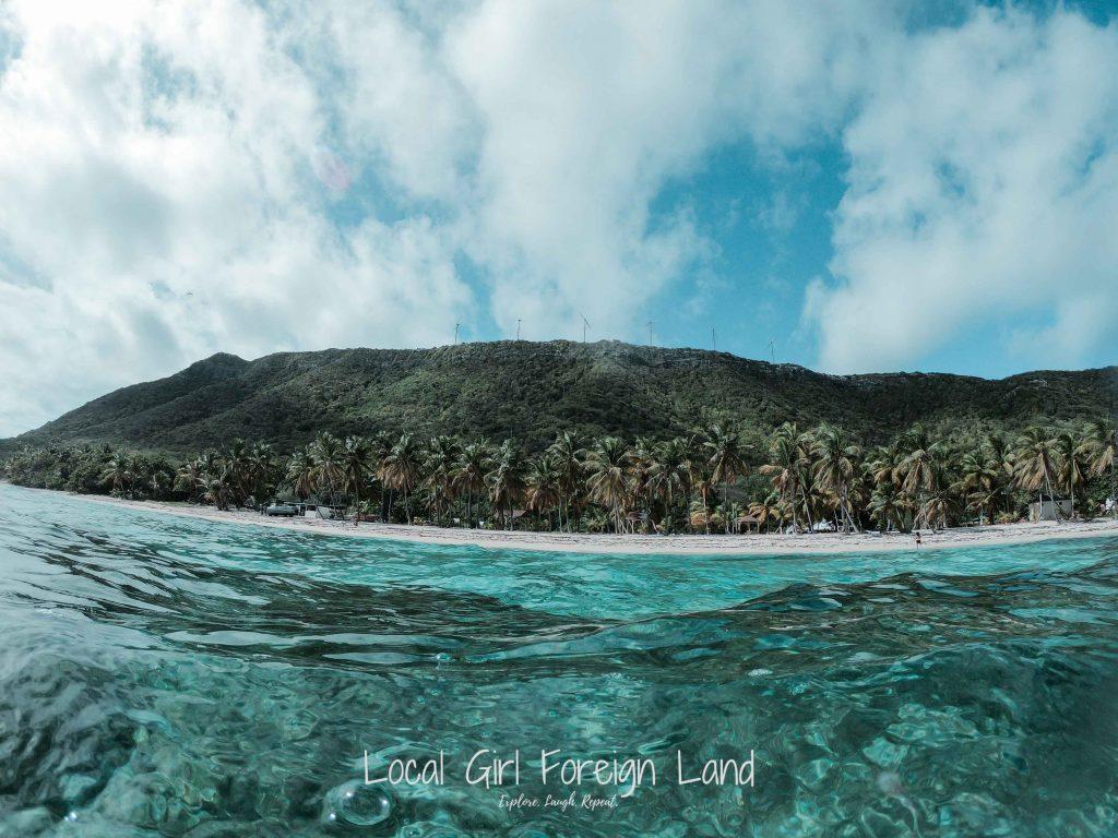 Le Souffleur, La Desirade, picture from the sea